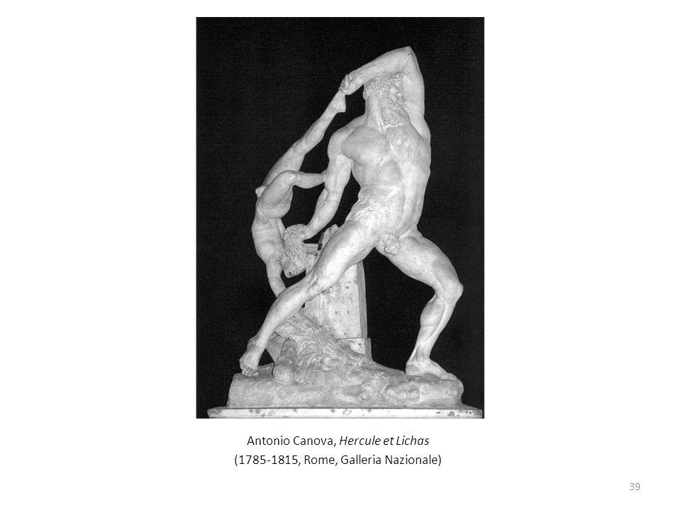 Antonio Canova, Hercule et Lichas (1785-1815, Rome, Galleria Nazionale) 39