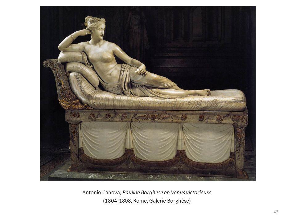 Antonio Canova, Pauline Borghèse en Vénus victorieuse (1804-1808, Rome, Galerie Borghèse) 43