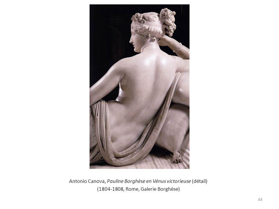 Antonio Canova, Pauline Borghèse en Vénus victorieuse (détail) (1804-1808, Rome, Galerie Borghèse) 44
