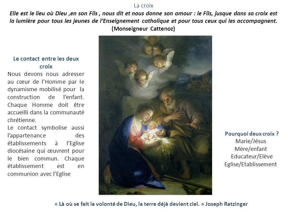 La croix Elle est le lieu où Dieu,en son Fils, nous dit et nous donne son amour : le Fils, jusque dans sa croix est la lumière pour tous les jeunes de lEnseignement catholique et pour tous ceux qui les accompagnent.