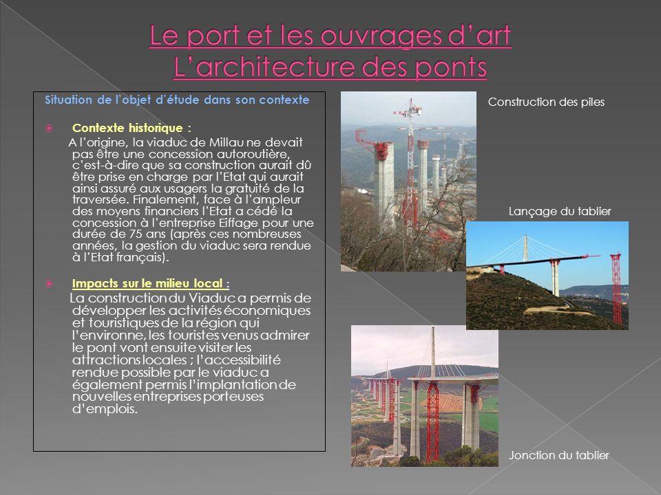 Situation de lobjet détude dans son contexte Contexte historique : A lorigine, la viaduc de Millau ne devait pas être une concession autoroutière, ces
