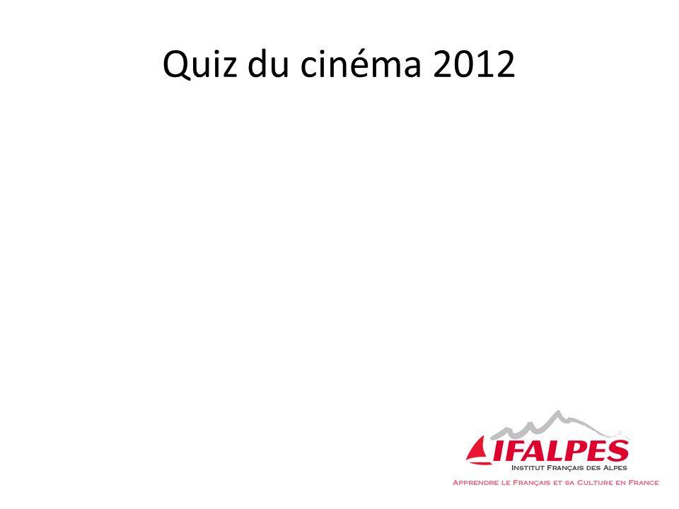 7.Lequel des ces films, inspirés dune BD, est sorti en 2012.