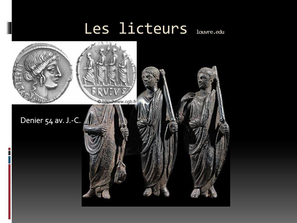 Les licteurs louvre.edu Denier 54 av. J.-C.