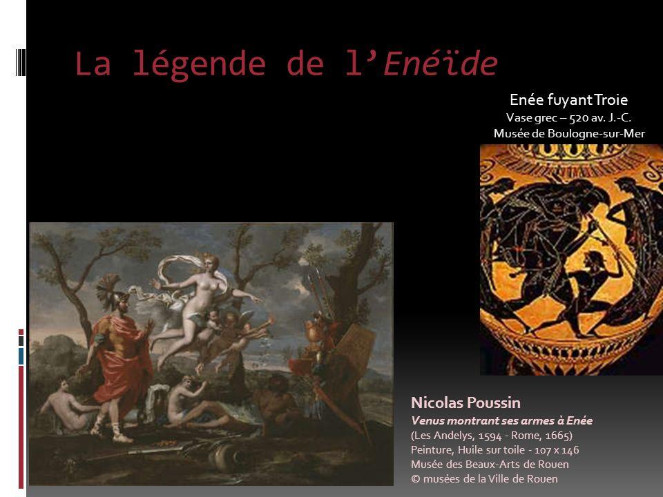 La légende de lEnéïde Enée fuyant Troie Vase grec – 520 av.