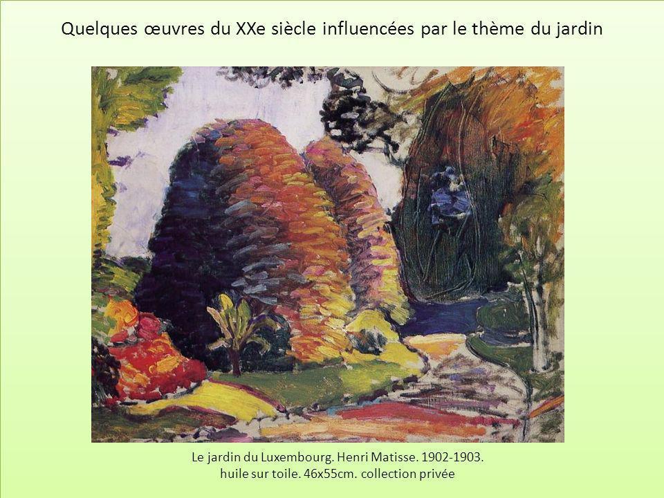 Le jardin du Luxembourg. Henri Matisse. 1902-1903. huile sur toile. 46x55cm. collection privée Quelques œuvres du XXe siècle influencées par le thème