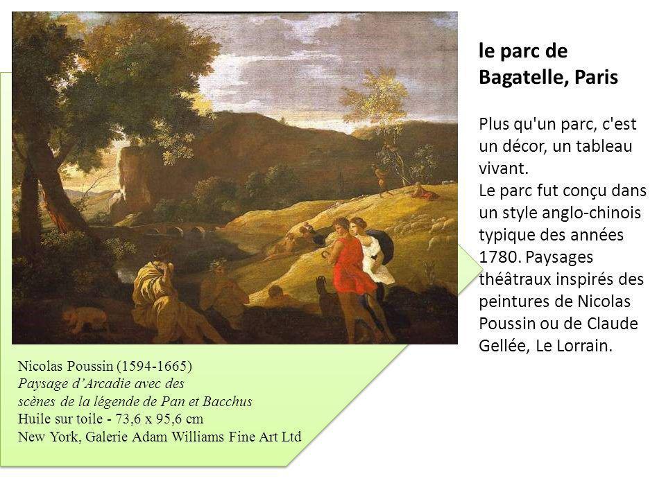 le parc de Bagatelle, Paris Plus qu'un parc, c'est un décor, un tableau vivant. Le parc fut conçu dans un style anglo-chinois typique des années 1780.