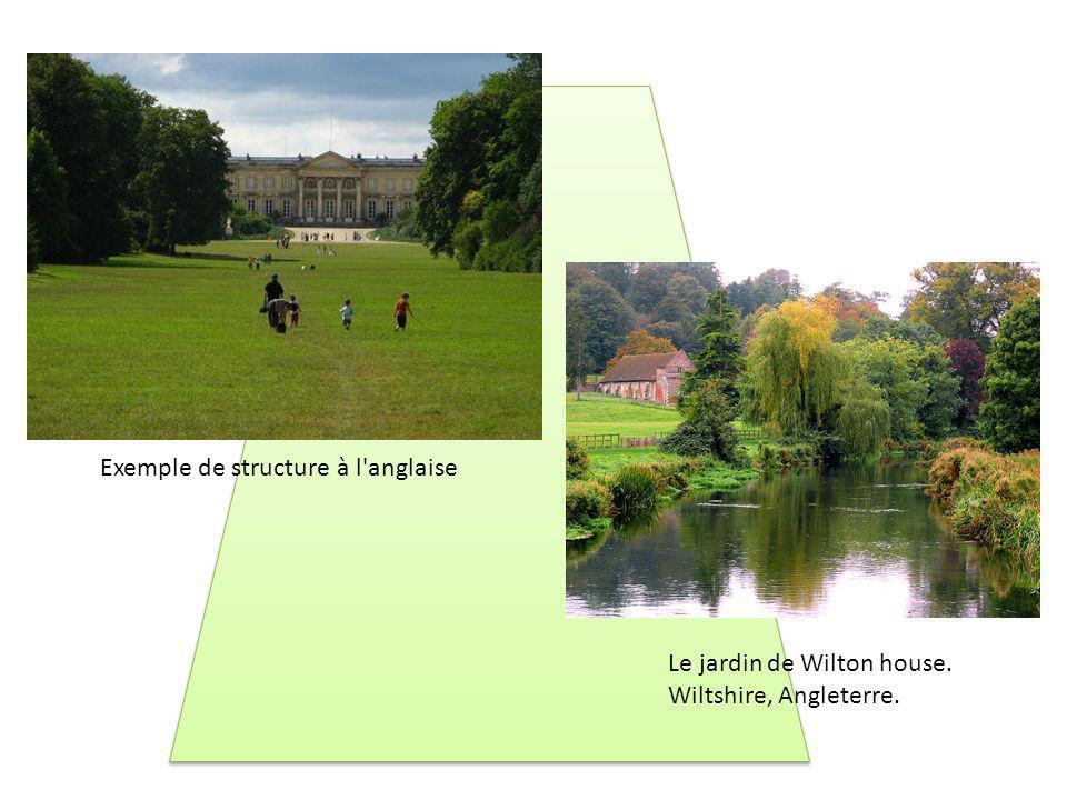 Le jardin de Wilton house. Wiltshire, Angleterre. Exemple de structure à l'anglaise
