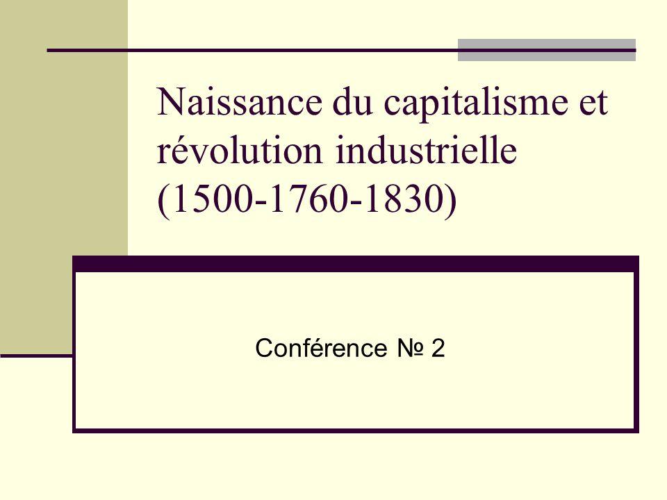 Naissance du capitalisme et révolution industrielle (1500-1760-1830) Conférence 2