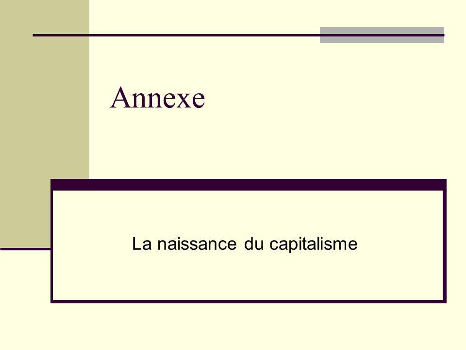 Annexe La naissance du capitalisme