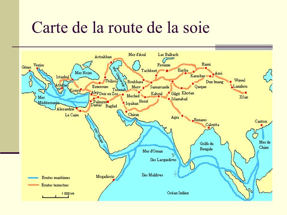 Carte de la route de la soie