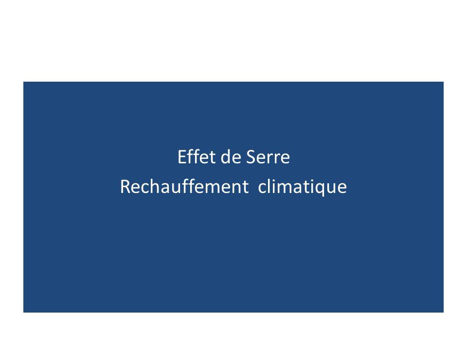 Effet de Serre Rechauffement climatique