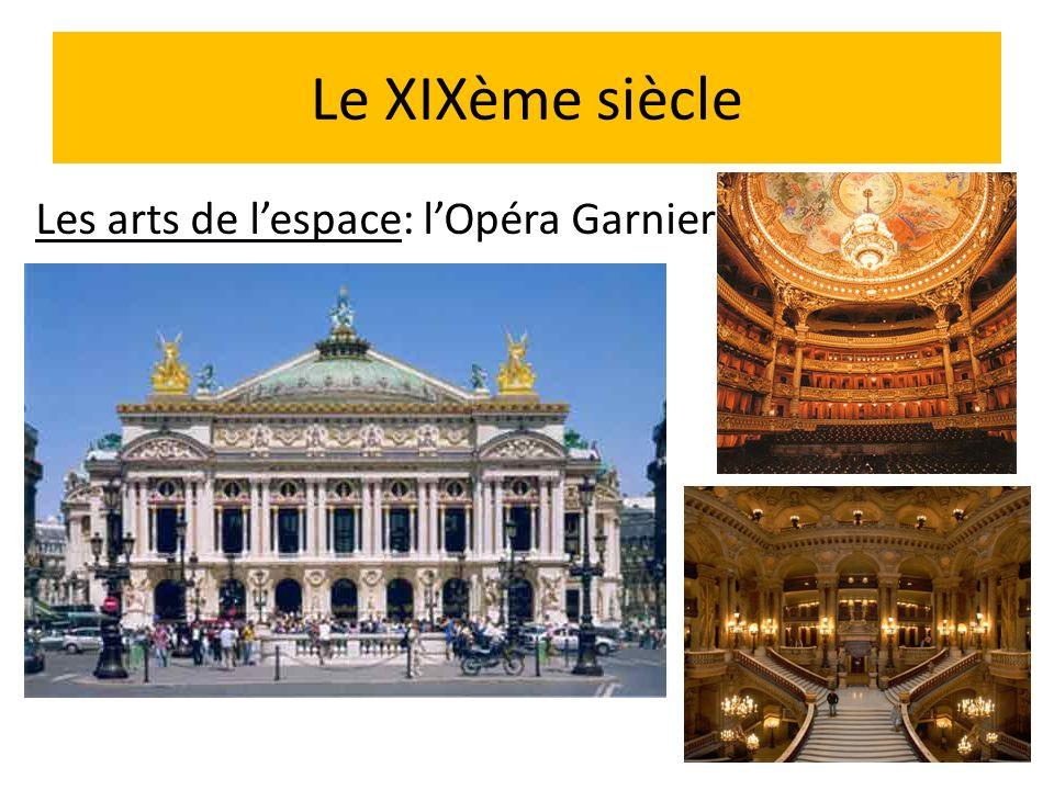 Le XIXème siècle Les arts de lespace: lOpéra Garnier