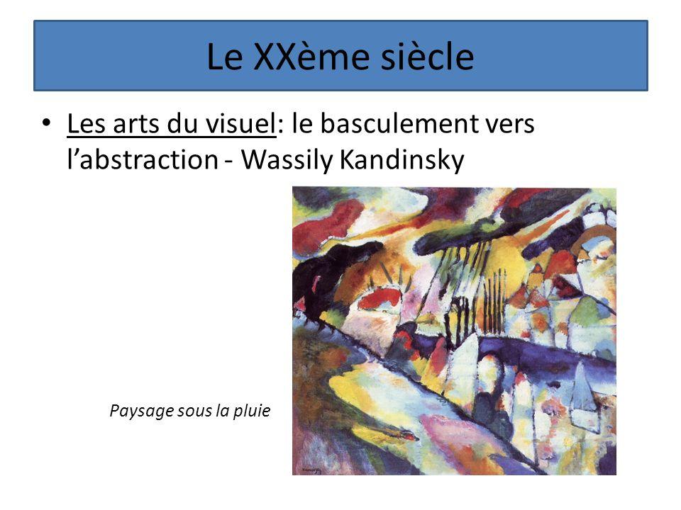 Le XXème siècle Les arts du visuel: le basculement vers labstraction - Wassily Kandinsky Paysage sous la pluie