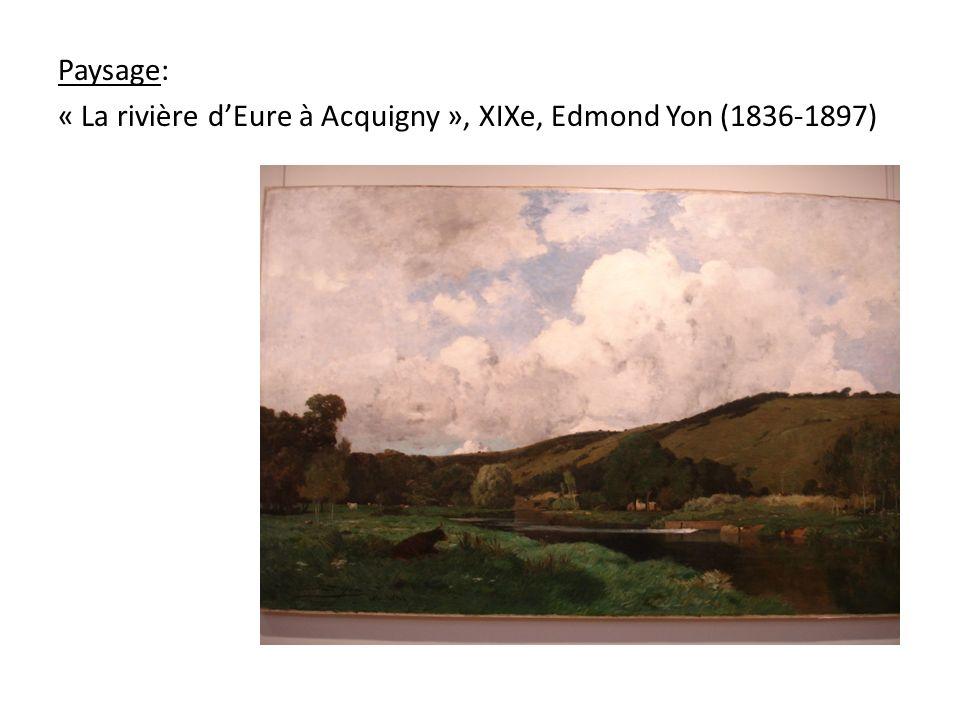 Paysage: « La rivière dEure à Acquigny », XIXe, Edmond Yon (1836-1897)