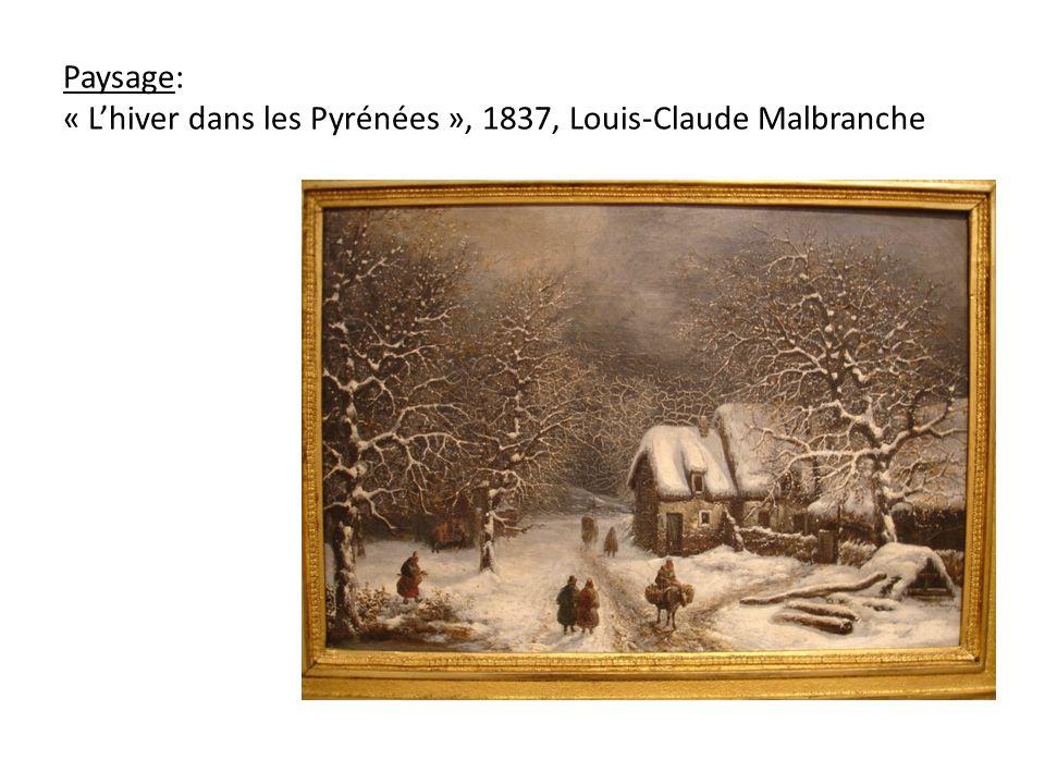 Paysage: « Lhiver dans les Pyrénées », 1837, Louis-Claude Malbranche