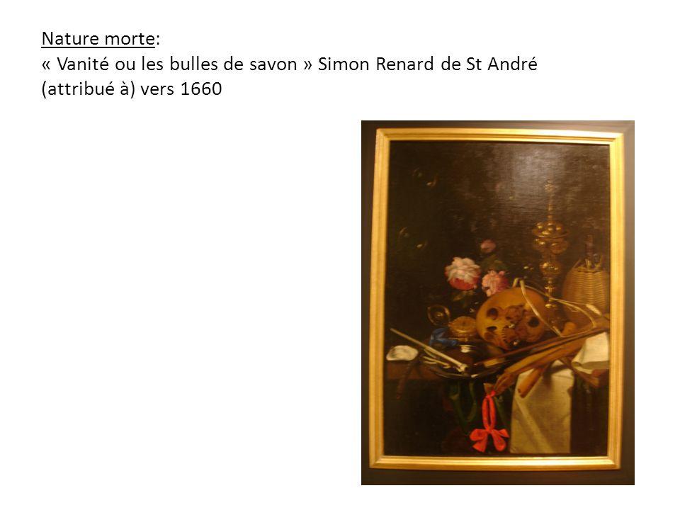 Nature morte: « Vanité ou les bulles de savon » Simon Renard de St André (attribué à) vers 1660