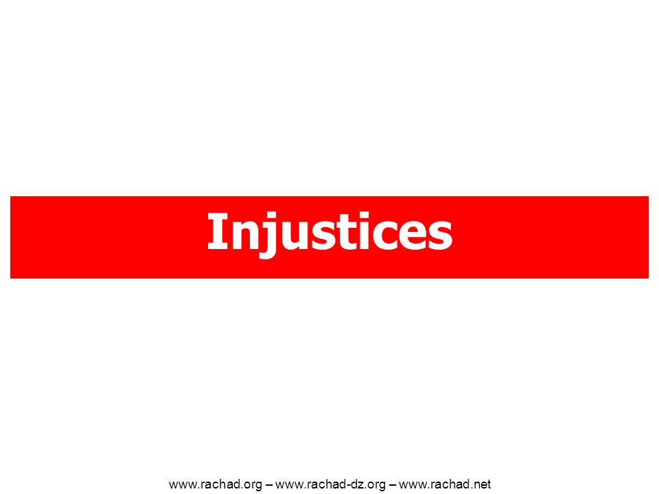 Injustices   –   –