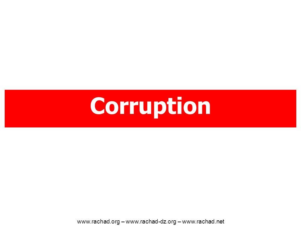 Corruption www.rachad.org – www.rachad-dz.org – www.rachad.net