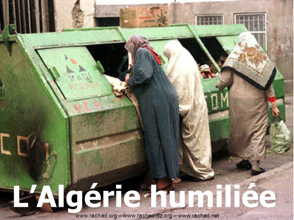 LAlgérie humiliée www.rachad.org – www.rachad-dz.org – www.rachad.net