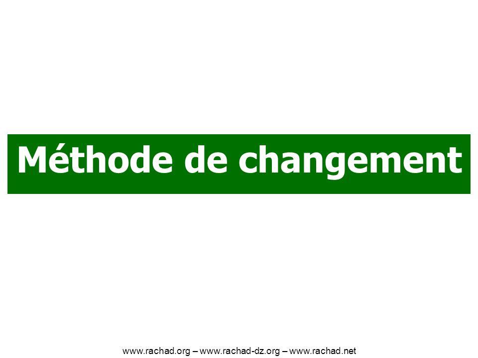 Méthode de changement www.rachad.org – www.rachad-dz.org – www.rachad.net