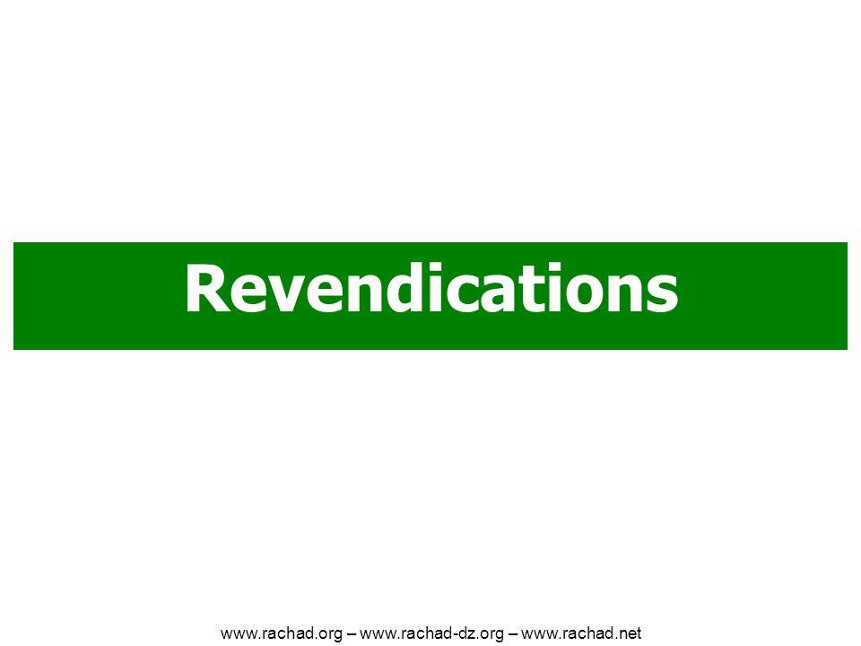 Revendications www.rachad.org – www.rachad-dz.org – www.rachad.net