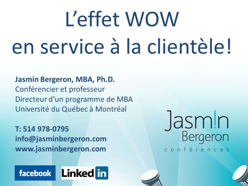www.jasminbergeron.com Étape #1: Être un exemple Écrivez trois choses que vos collègues devraient faire avec tous les « clients » idéalement...