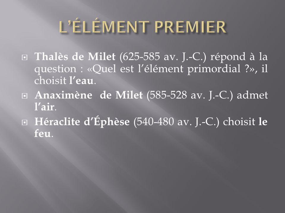 Thalès de Milet (625-585 av.