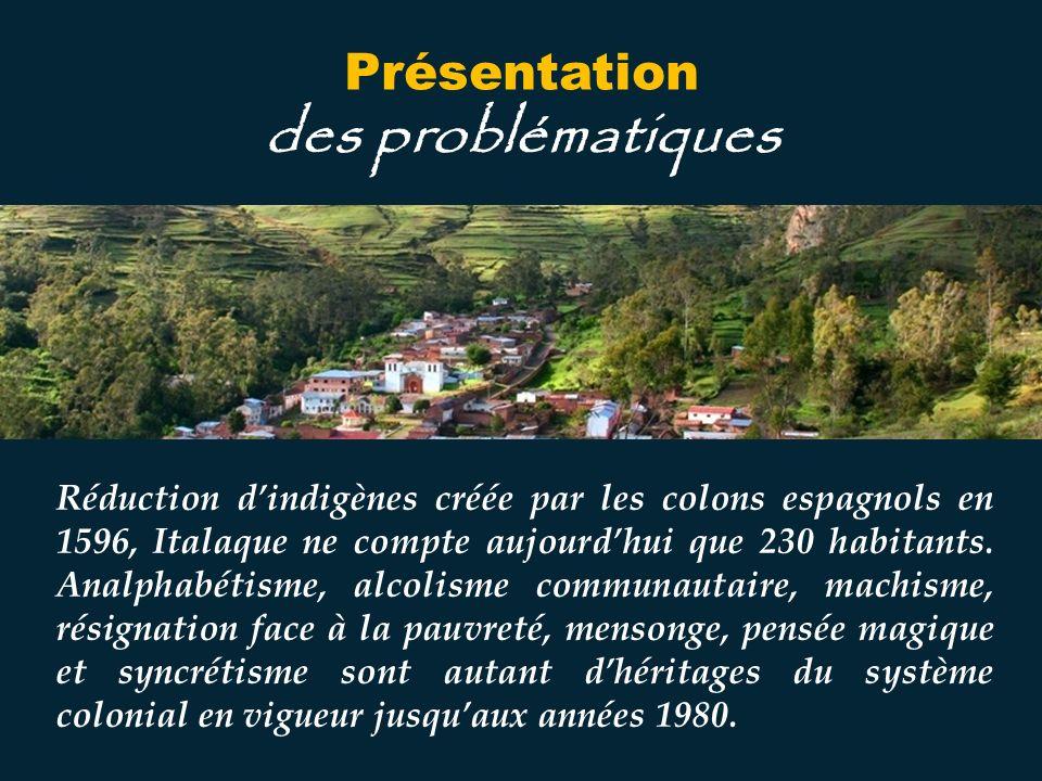 Réduction dindigènes créée par les colons espagnols en 1596, Italaque ne compte aujourdhui que 230 habitants.