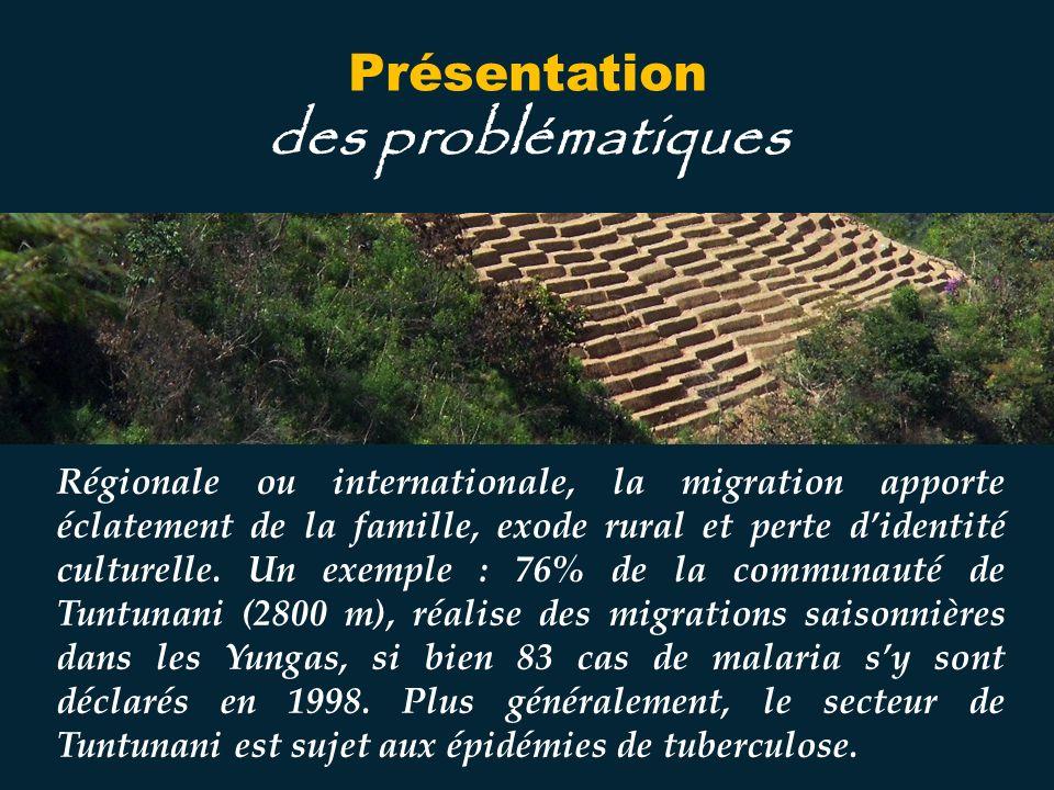 Régionale ou internationale, la migration apporte éclatement de la famille, exode rural et perte didentité culturelle.