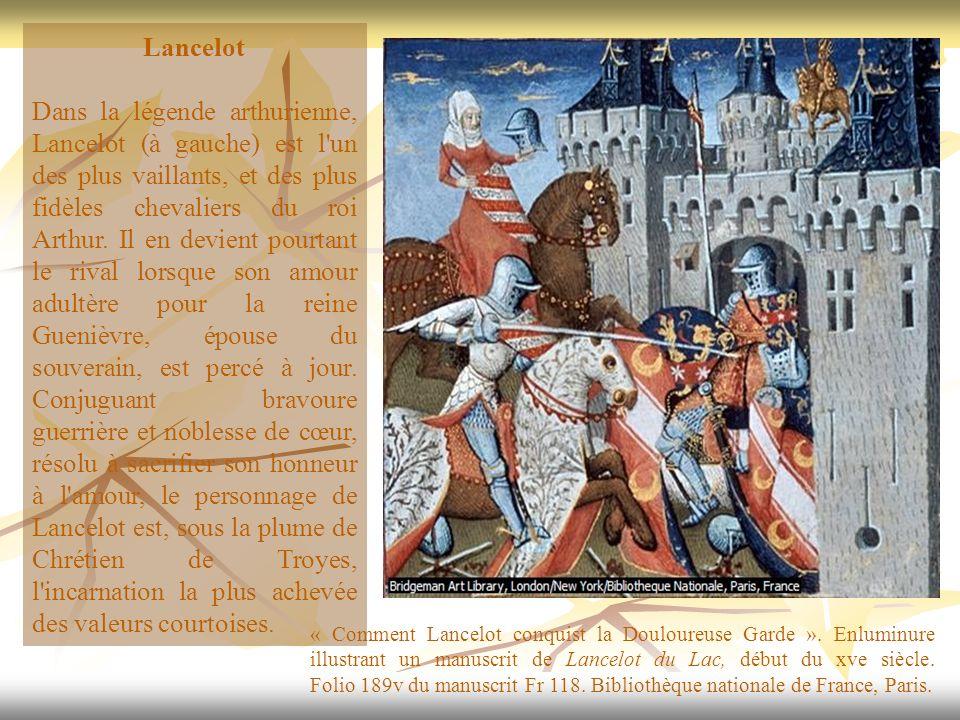 Lancelot Dans la légende arthurienne, Lancelot (à gauche) est l'un des plus vaillants, et des plus fidèles chevaliers du roi Arthur. Il en devient pou