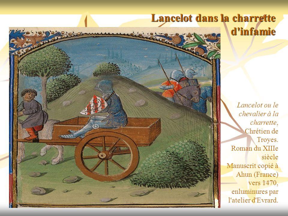 Lancelot ou le chevalier à la charrette, Chrétien de Troyes. Roman du XIIIe siècle Manuscrit copié à Ahun (France) vers 1470, enluminures par l'atelie