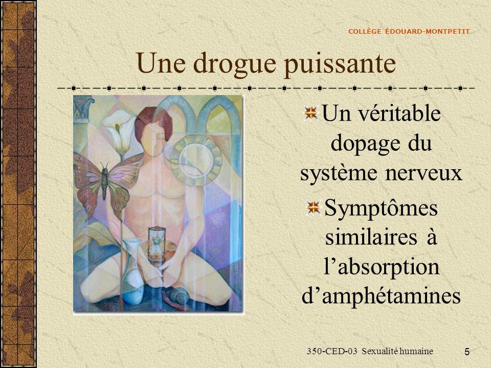 COLLÈGE ÉDOUARD-MONTPETIT 350-CED-03 Sexualité humaine 6 Symptômes Euphorie Énergie sans borne Optimisme Soif infinie de communiquer