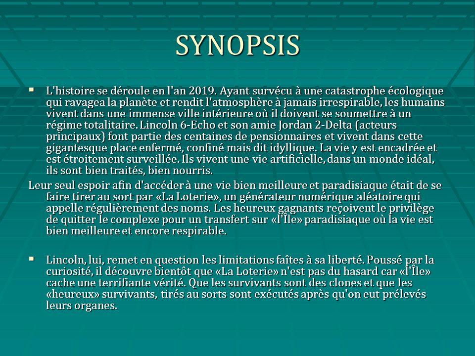 SYNOPSIS L histoire se déroule en l an 2019.