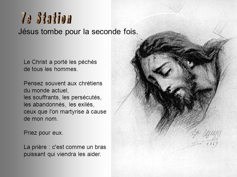 Véronique essuie la Face de Jésus. Le doux linge de Véronique. je l'appuyais sur ma Face, lui en laissant l'empreinte. Regarde mes yeux remplis de lar