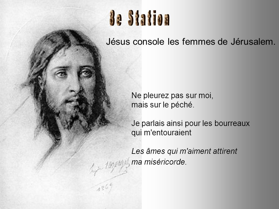 Jésus tombe pour la seconde fois. Le Christ a porté les péchés de tous les hommes. Pensez souvent aux chrétiens du monde actuel, les souffrants, les p