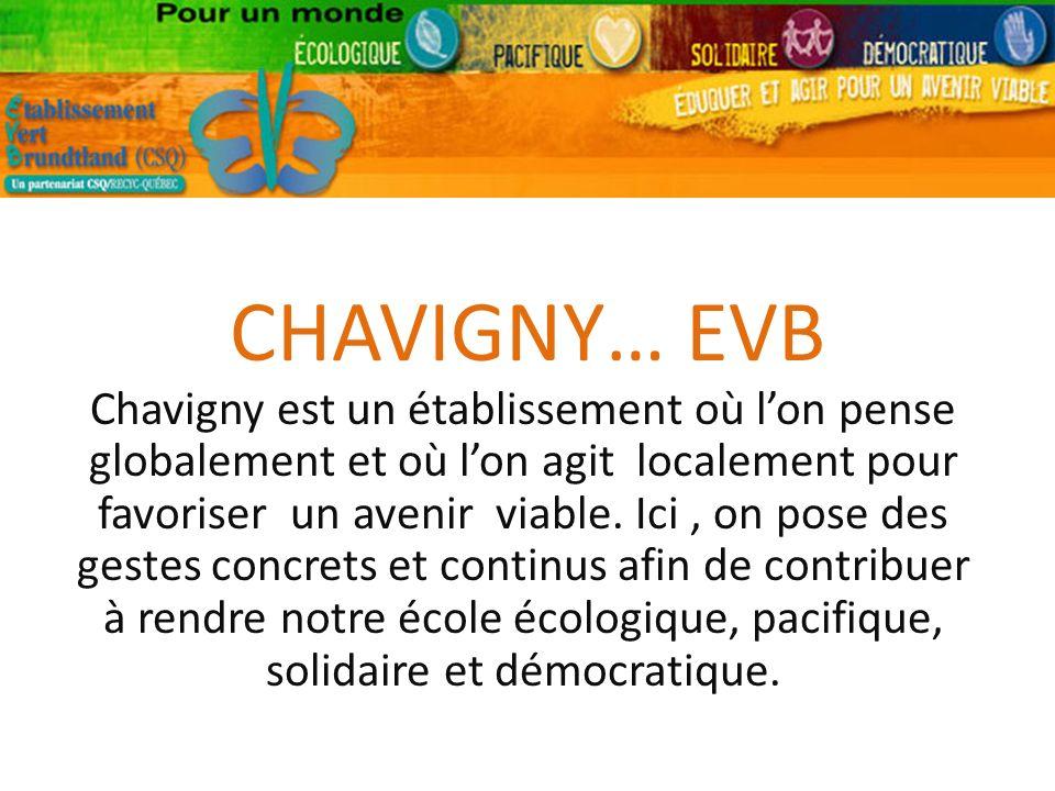CHAVIGNY… EVB Chavigny est un établissement où lon pense globalement et où lon agit localement pour favoriser un avenir viable.