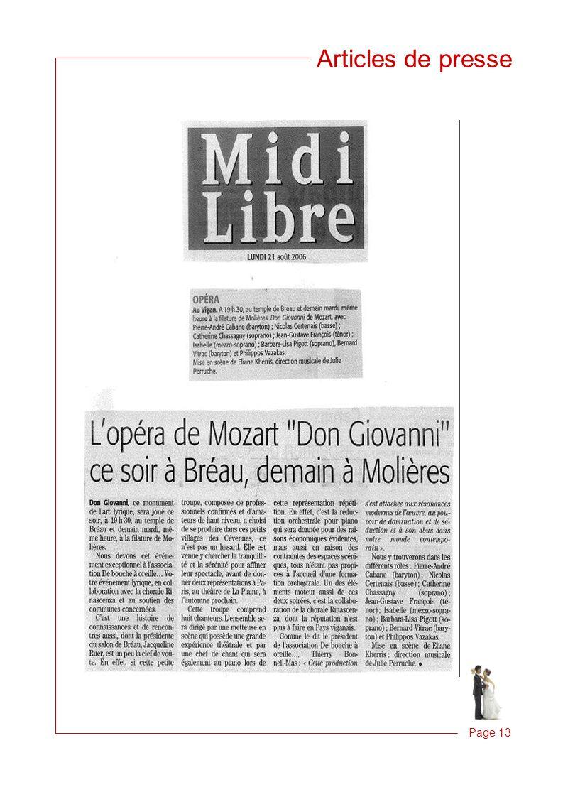 Articles de presse Page 13