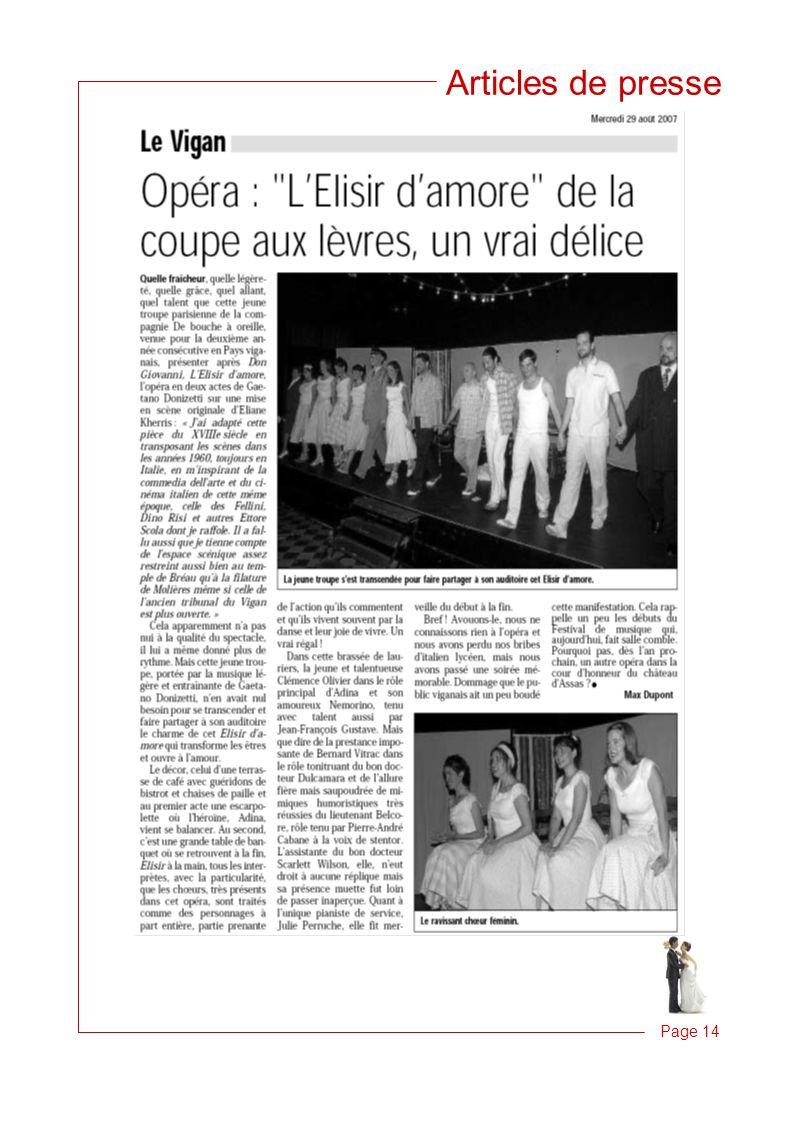 Articles de presse Page 14