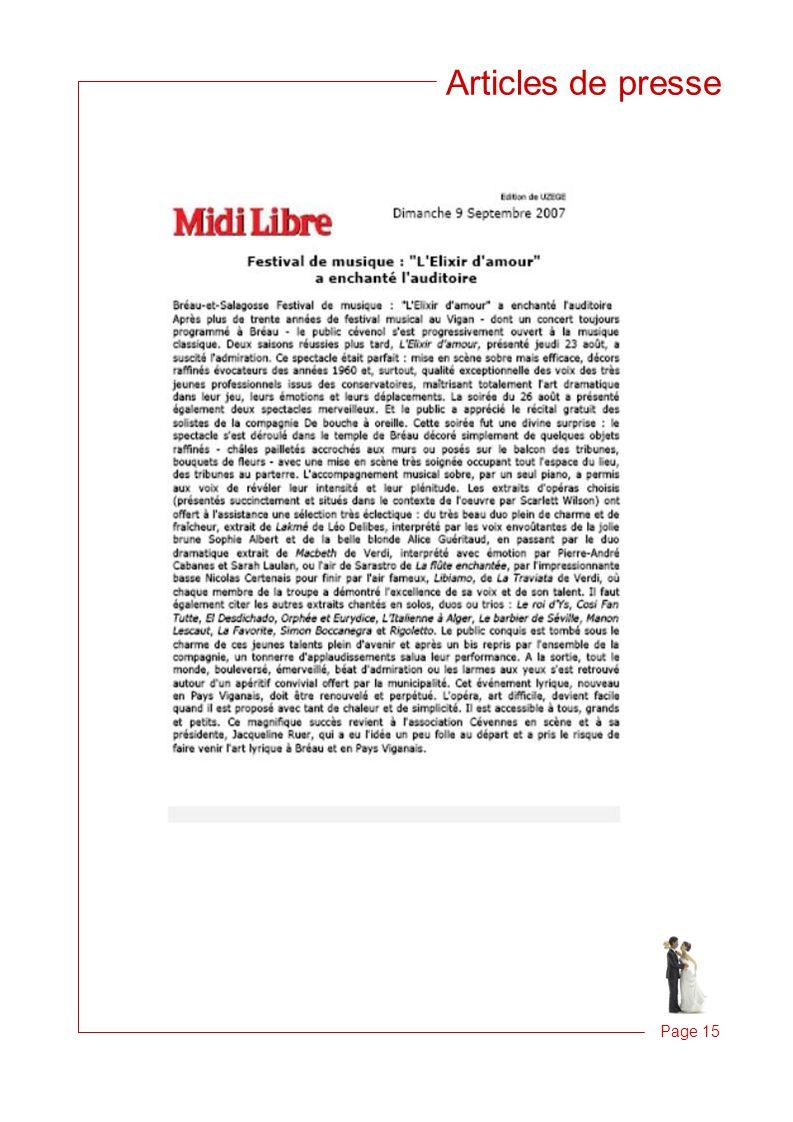 Articles de presse Page 15