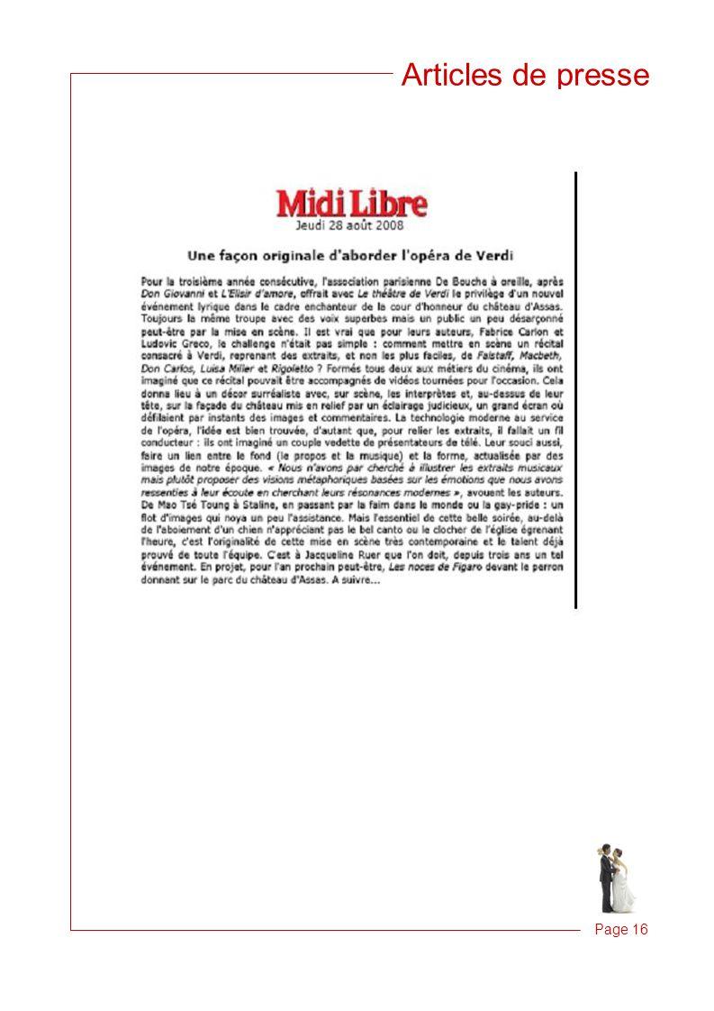 Articles de presse Page 16