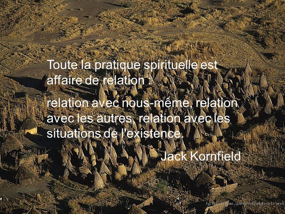 Toute la pratique spirituelle est affaire de relation : relation avec nous-même, relation avec les autres, relation avec les situations de l existence.