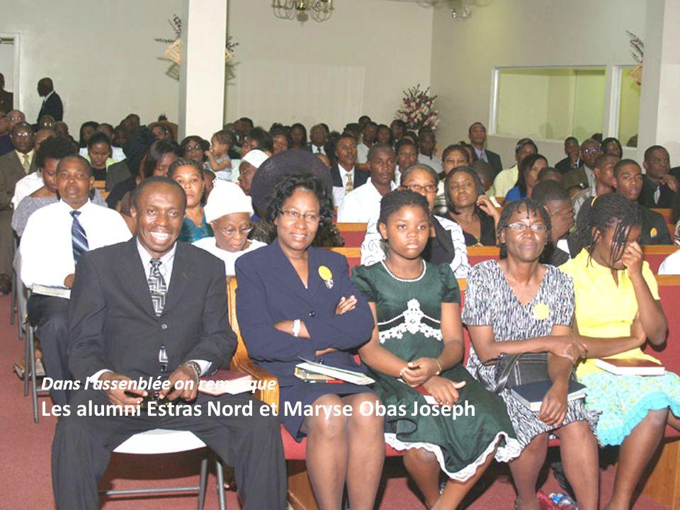 Dans lassenblée on remarque Les alumni Estras Nord et Maryse Obas Joseph