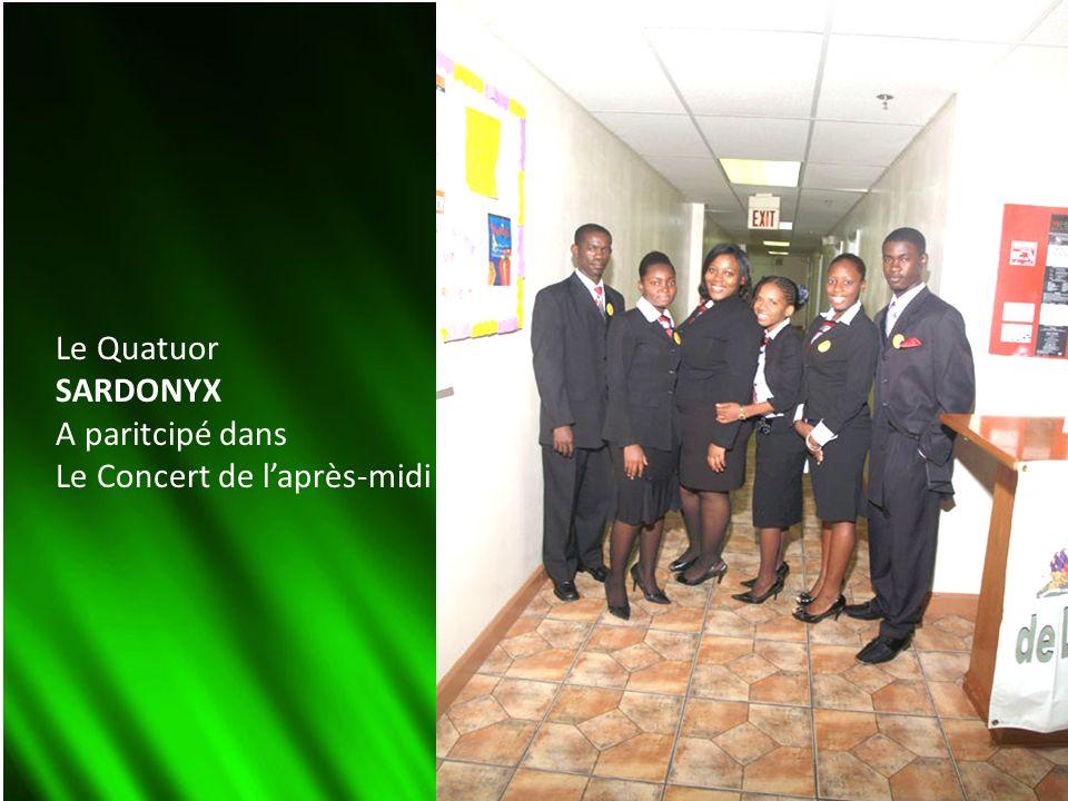 Le Quatuor SARDONYX A paritcipé dans Le Concert de laprès-midi