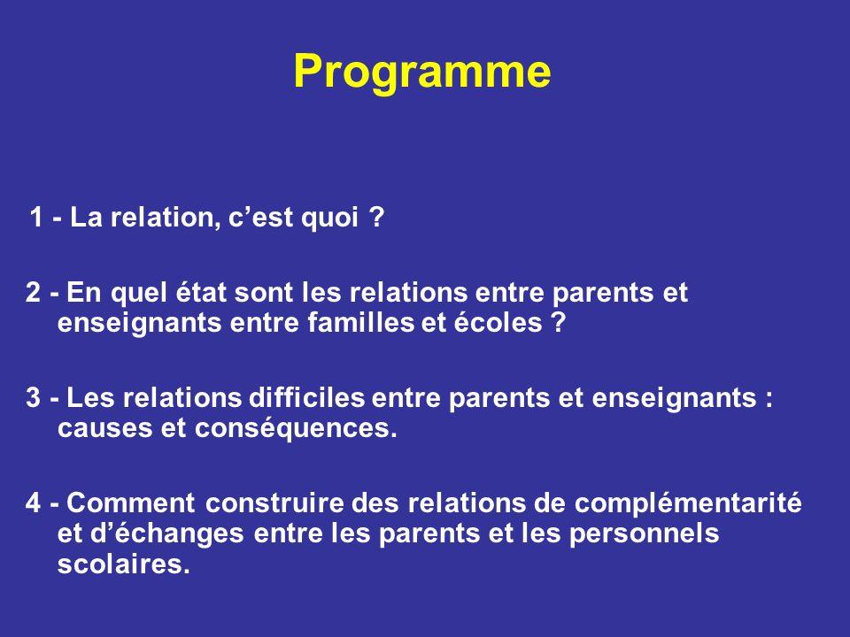 Programme 1 - La relation, cest quoi .