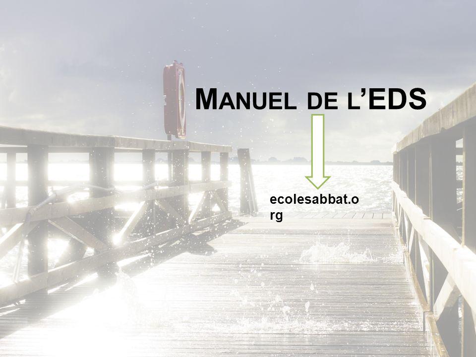M ANUEL DE L EDS ecolesabbat.o rg