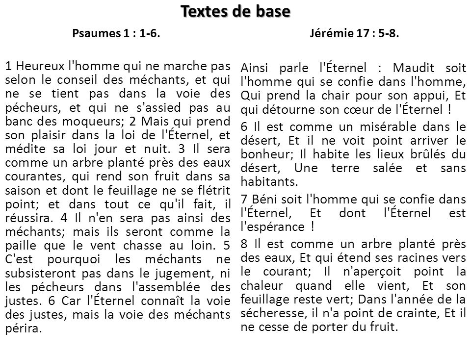 Psaumes 1 : 1-6.