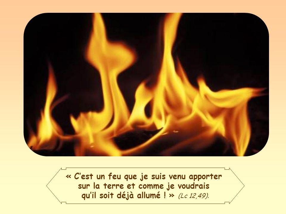 Telle est donc la mission de Jésus : répandre le feu sur la terre, communiquer lEsprit Saint et sa force rénovatrice et purificatrice.