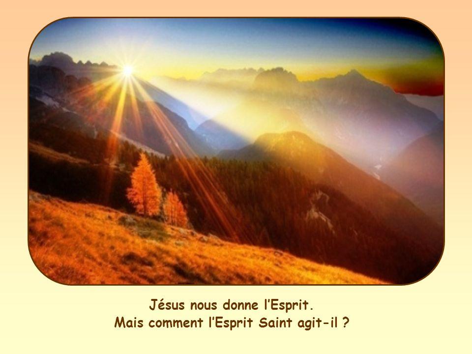 Jésus nous donne lEsprit. Mais comment lEsprit Saint agit-il ?