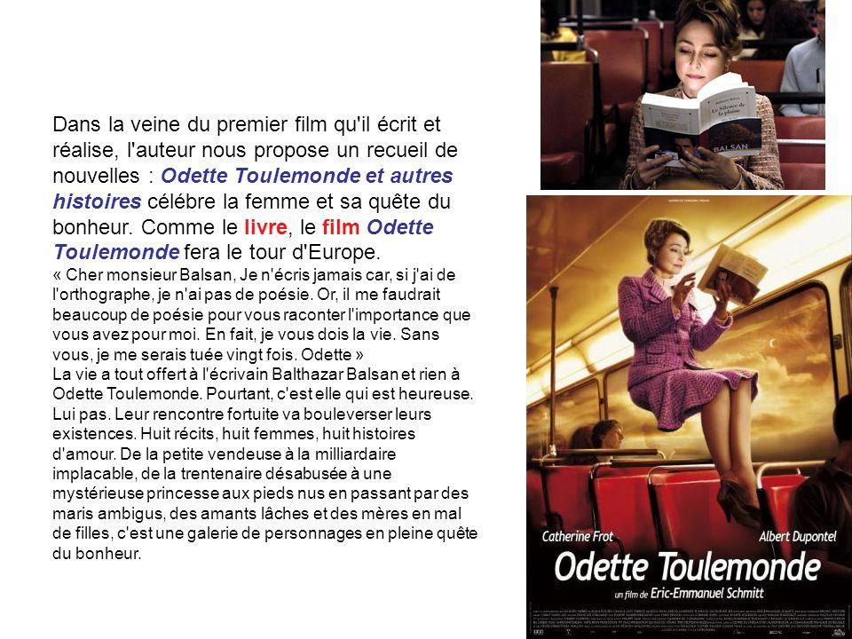 Dans la veine du premier film qu'il écrit et réalise, l'auteur nous propose un recueil de nouvelles : Odette Toulemonde et autres histoires célébre la