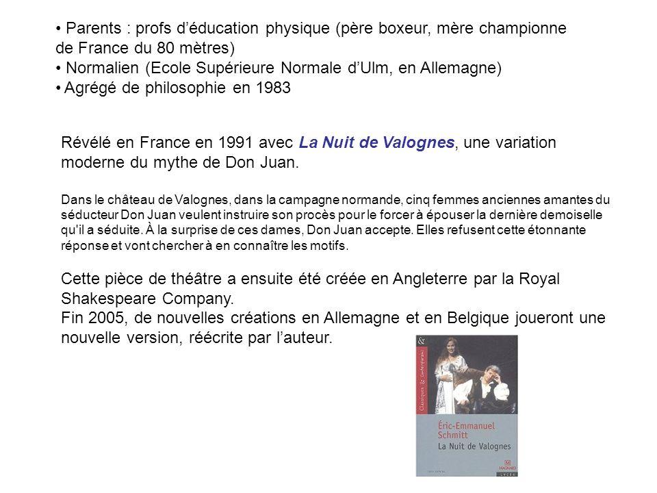 Après ce livre lumineux, il publia La Part de l autre (2001), livre plus sombre consacré à Hitler, le vrai et le virtuel.